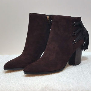 Marc Fisher Kava Brown Suede Ankle Boot NWT